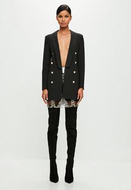 Peace + Love Black Long Sleeve Blazer