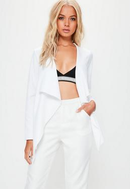 White Waterfall Blazer Jacket