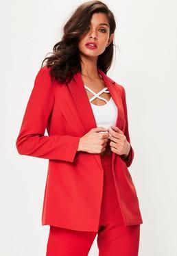 Lang-Blazer in Rot