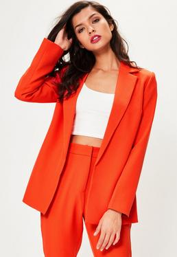 Orange Longline Blazer