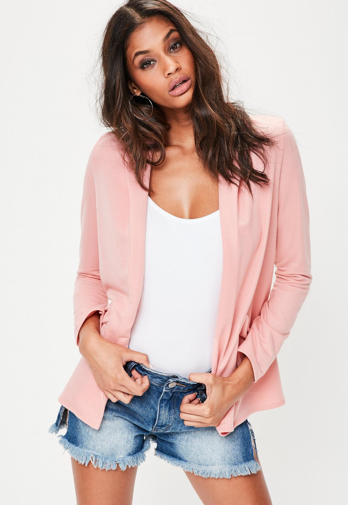 Pink Soft Boyfriend Jacket | Missguided