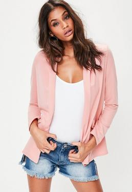 Pink Soft Boyfriend Jacket