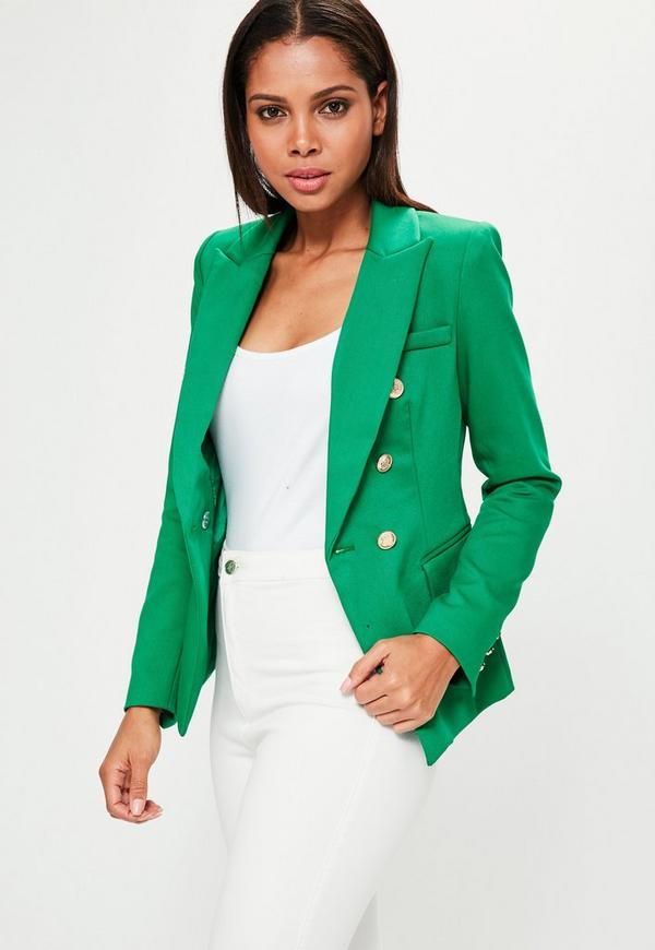 Green Tailored Military Jacket