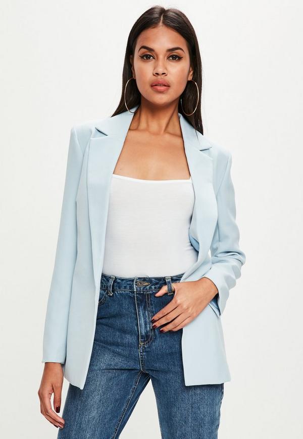 Blue Longline Blazer