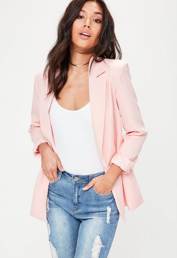 Pink Longline Blazer