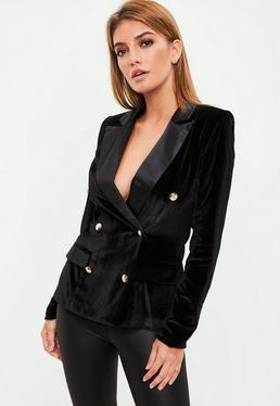 Premium Black Velvet & Satin Tux Jacket