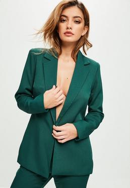 Green Longline Blazer