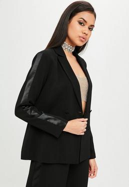 Carli Bybel x Missguided Black Tuxedo Blazer