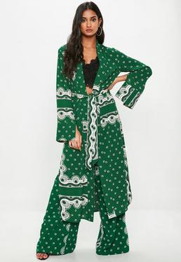 Green Paisley Duster