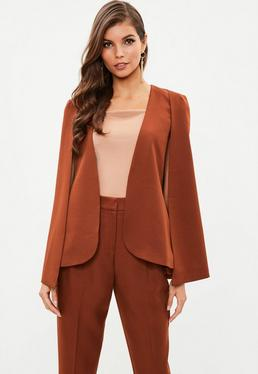 Rust Core Cape Blazer