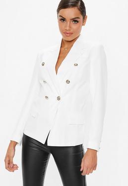White Military Blazer