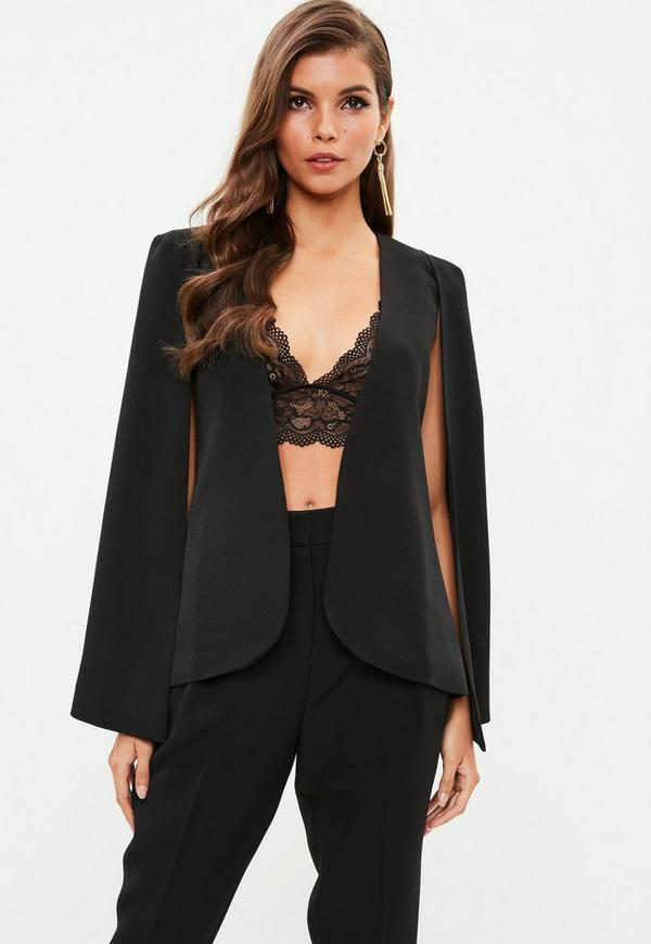 Black Cape Blazer by Missguided