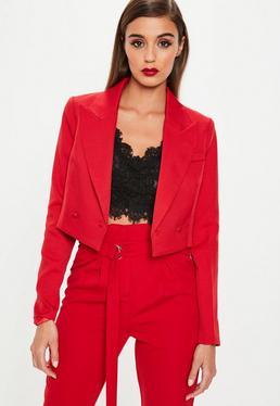 Red Super Cropped Jacket
