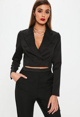 Black Supper Cropped Jacket