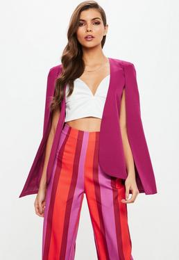 Purple Cape Blazer