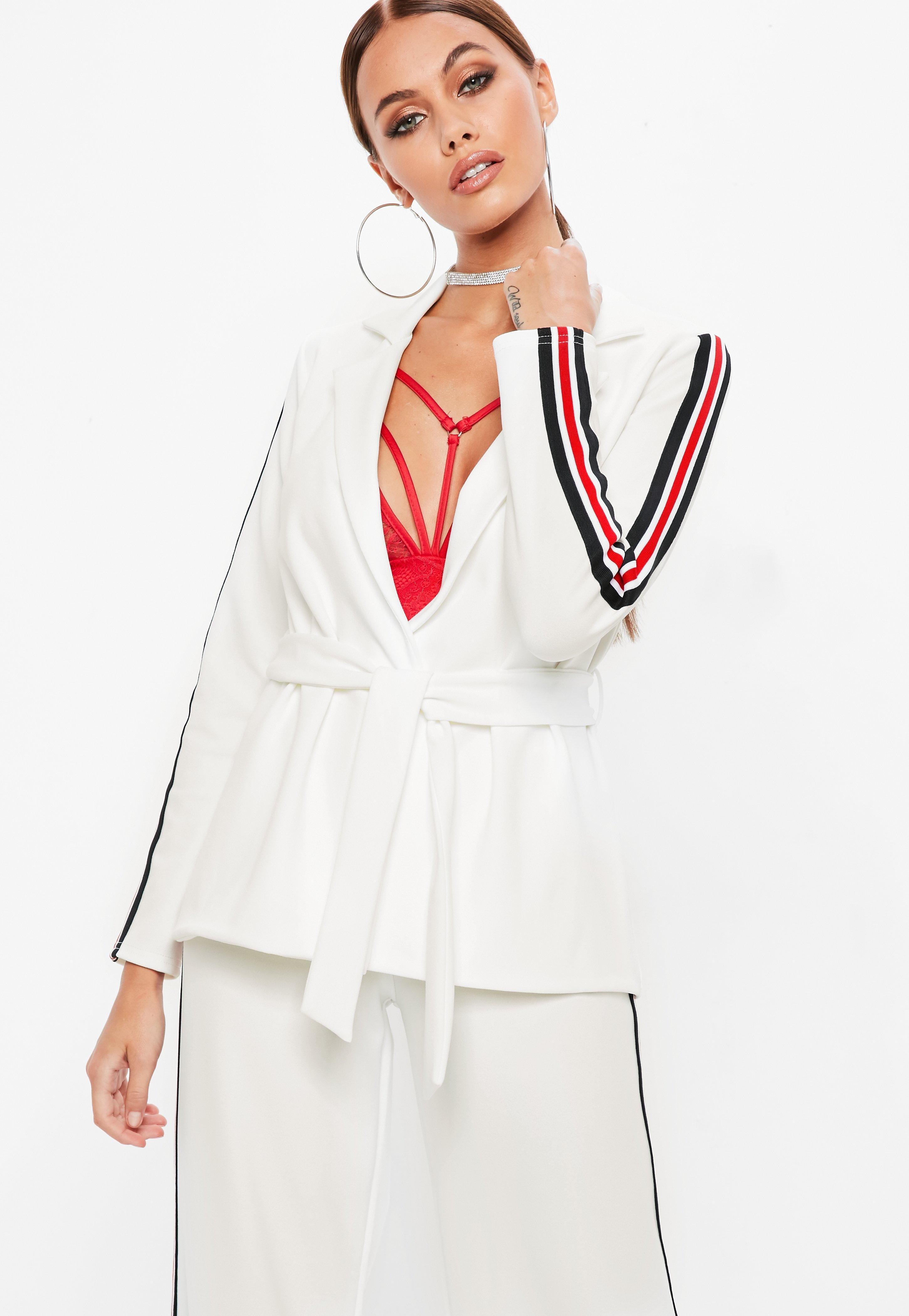 Veste de costume femme blanche