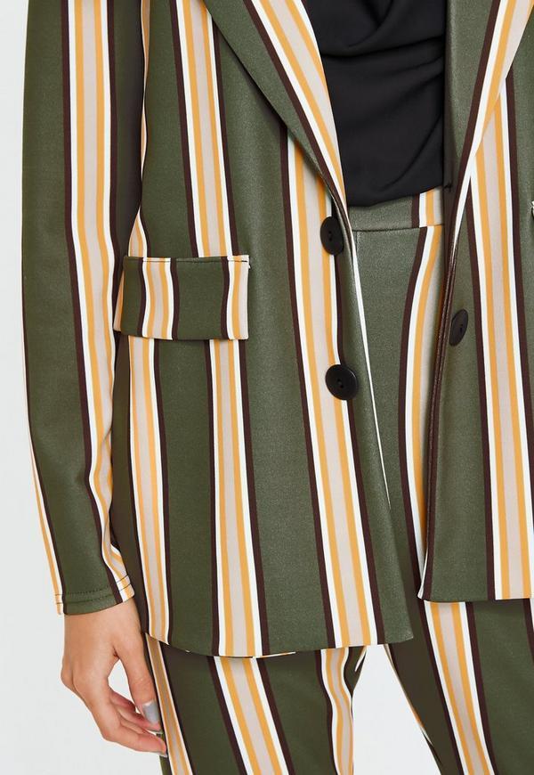 8c46d58ae4 Khaki Striped Blazer. Previous Next