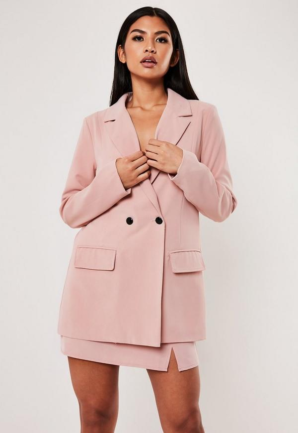 Pink Long Oversized Blazer by Missguided
