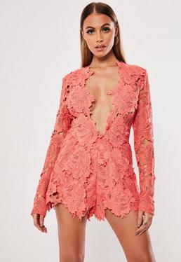 Кружевная куртка Pink Co Ord с вышивкой