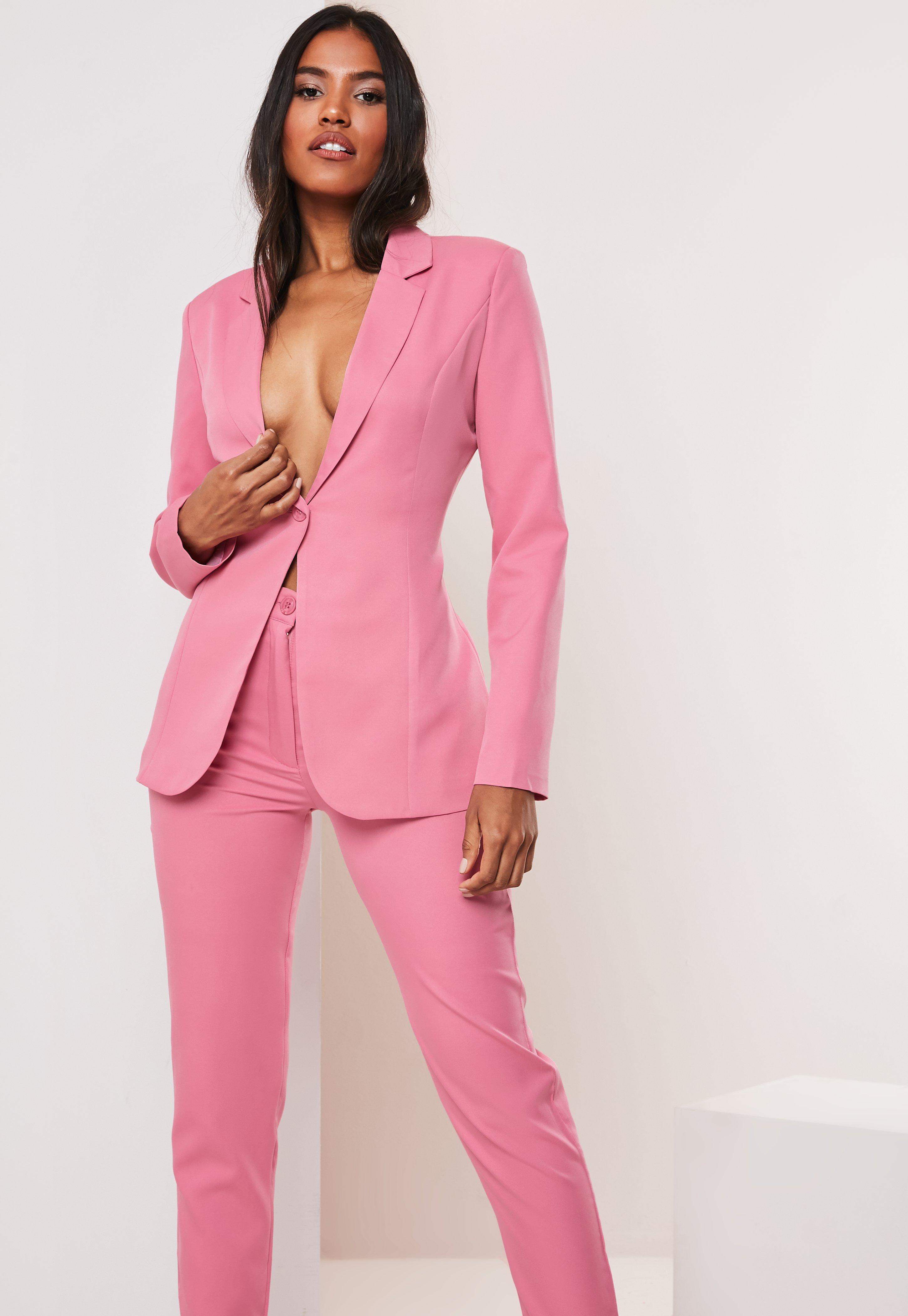 2e3e5279 Pink Co Ord Skinny Classic Blazer