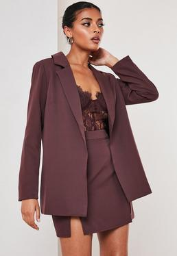 purple co ord boyfriend blazer