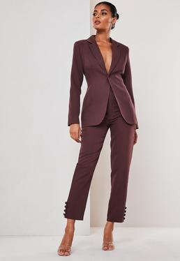 Purple Co ord Skinny Classic Blazer