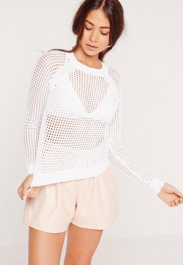 Pointelle Jumper White