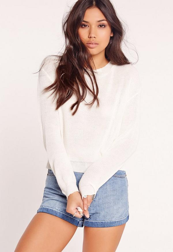 Crew Neck Jumper White