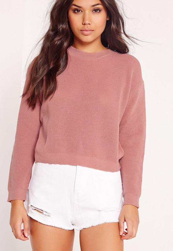 Crew Neck Jumper Pink