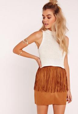 Crochet Sleeveless Top White