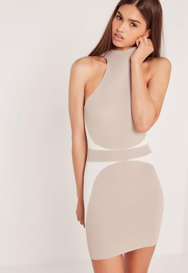 Bandage Racer Dress Grey