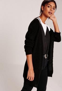 gros gilet noir simple avec poches