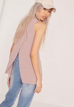 Wrap Back Tunic Lilac