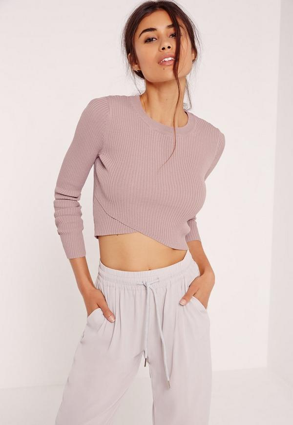 Wrap Front Jumper Lilac