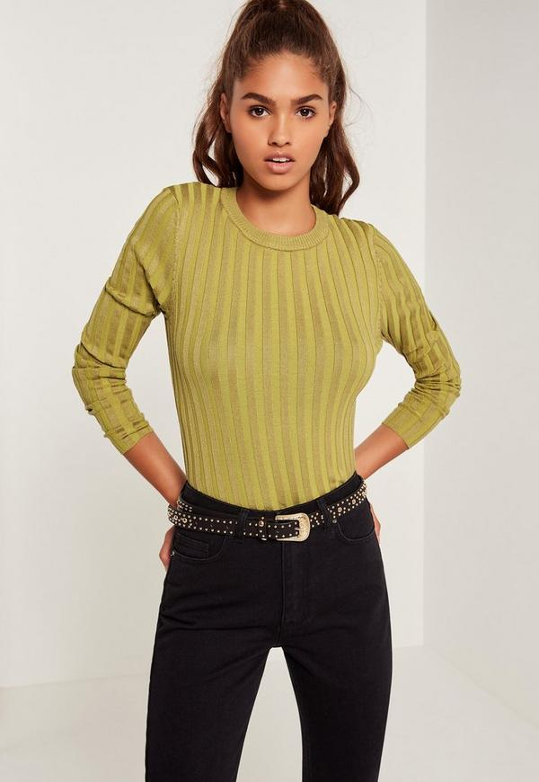 Extreme Rib Basic Crop Jumper Green