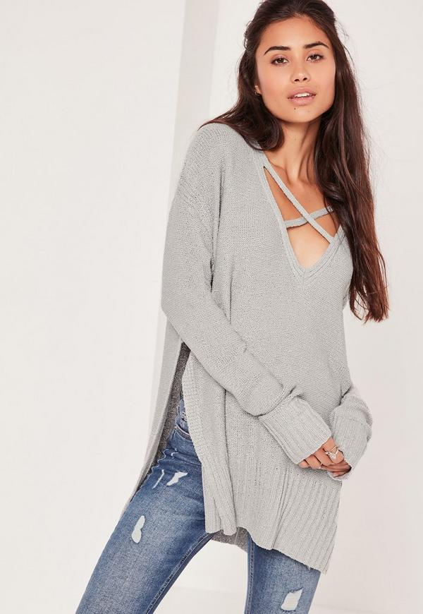 Harness Front Jumper Grey