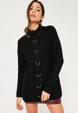 Black Ring Detail Sweater