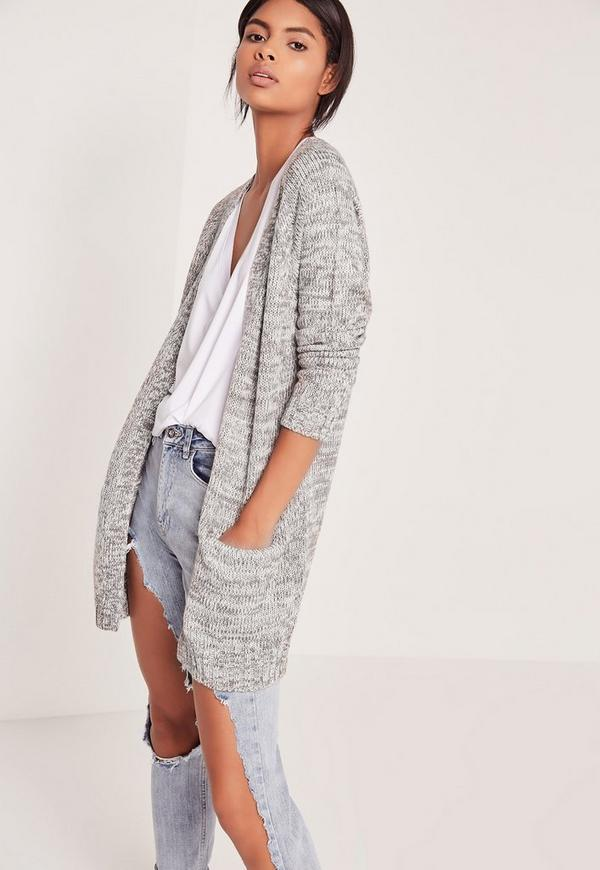 Pocket Detail Cardigan Grey