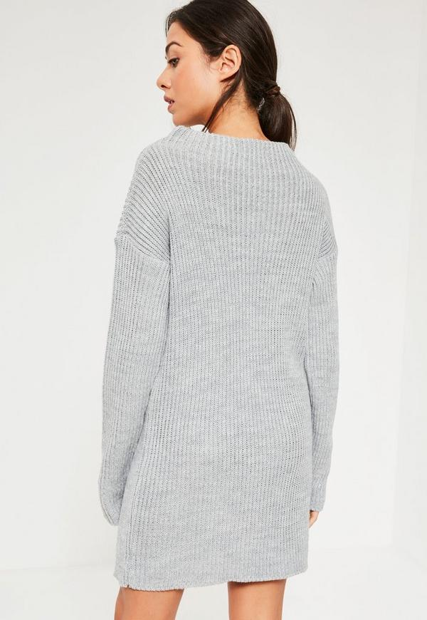 Grey High Neck Knitted Mini Dress. Was  33.00. Now  16.00 (50% off).  Previous Next b06ce1d92