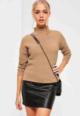 Nude Funnel Neck Jumper