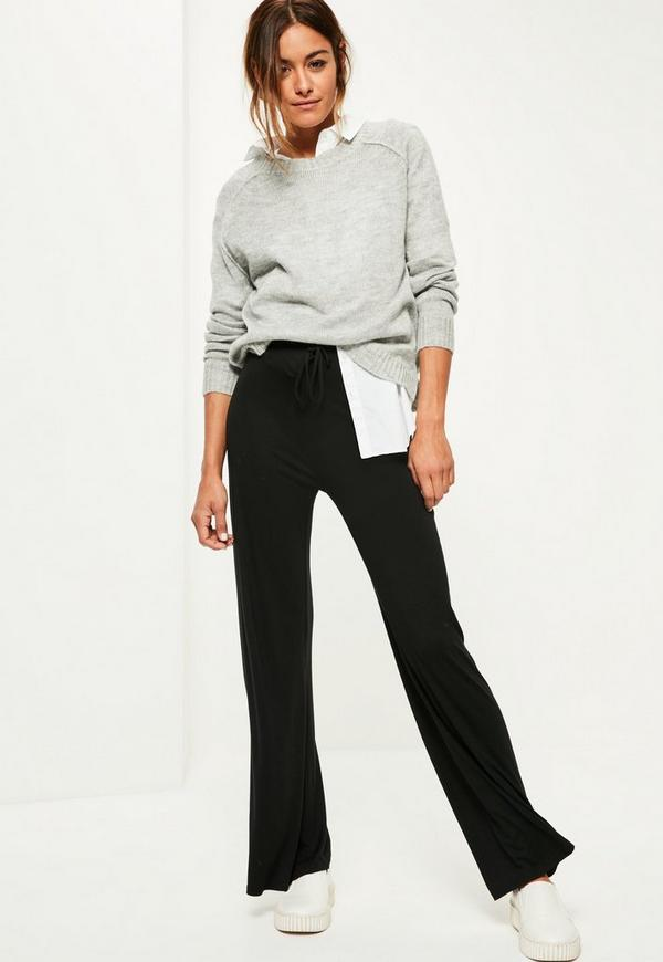 Knitting Joining Raglan Seams : Grey raglan exposed seams knitted jumper missguided