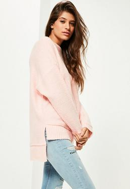 Pink Exposed Seam Jumper