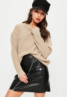 Camel Oversized Jumper