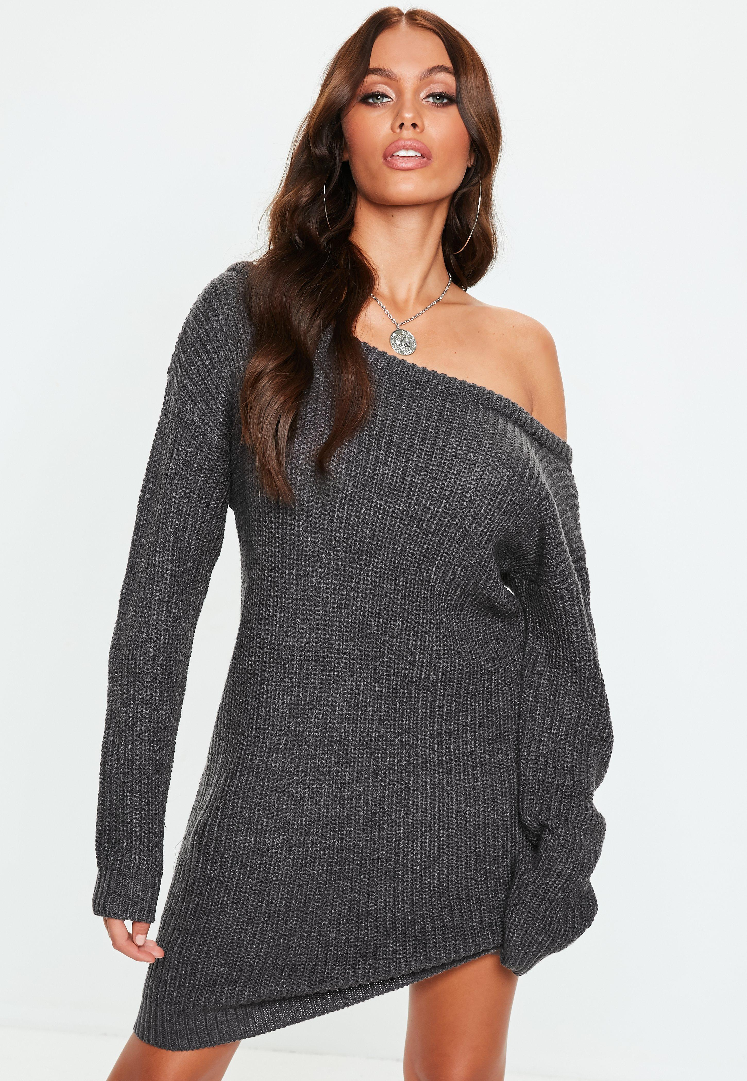 Sweater Dresses - Oversized Knitted Dresses   Missguided