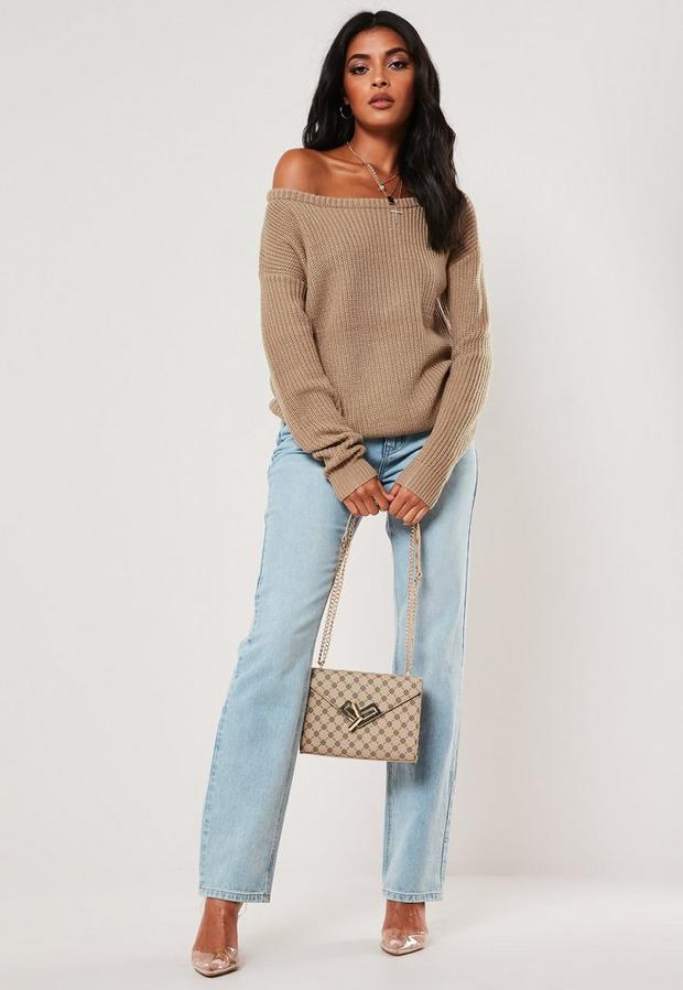 Missguided - Off Shoulder Knitted Jumper - 2