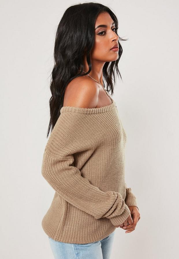 Missguided - Off Shoulder Knitted Jumper - 3