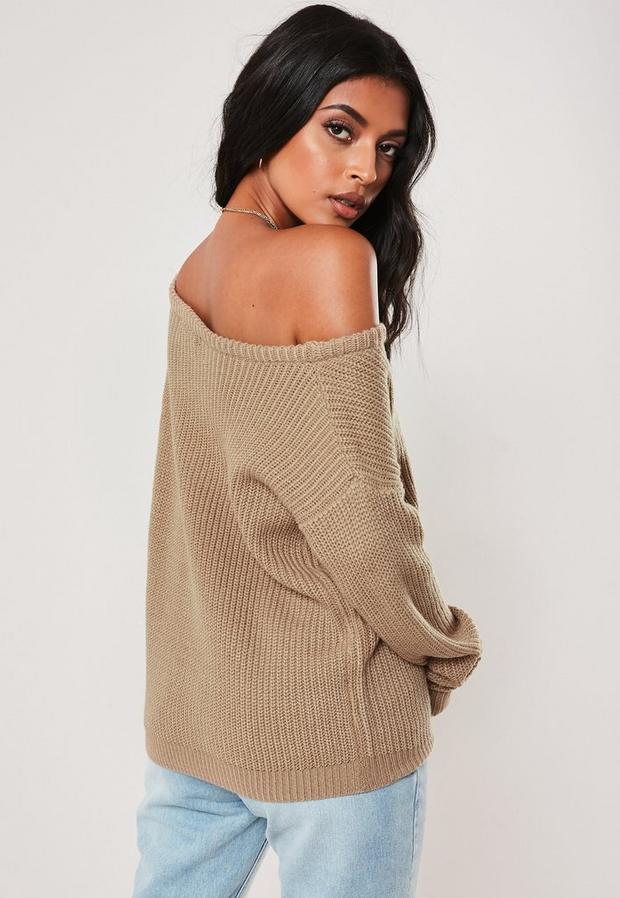 Missguided - Off Shoulder Knitted Jumper - 4