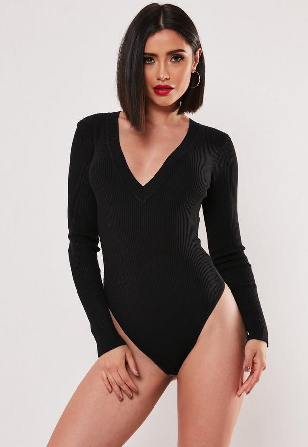 Missguided - Ultimate Plunge Knitted Bodysuit - 2