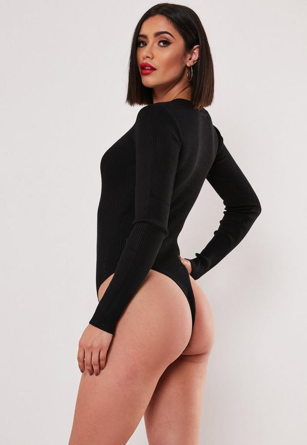 Missguided - Ultimate Plunge Knitted Bodysuit - 4