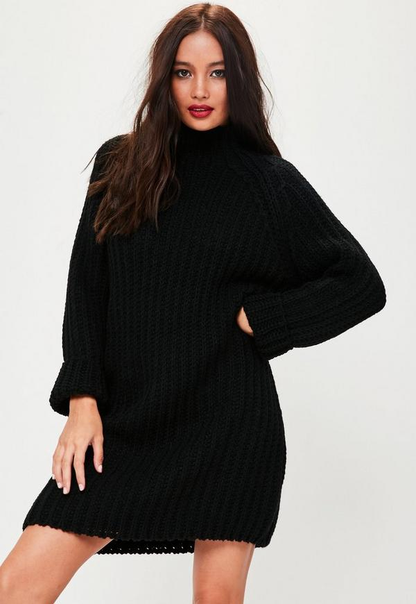 robe pull noire oversize missguided. Black Bedroom Furniture Sets. Home Design Ideas